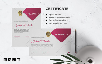 Jericka Melindis - Certificate Template