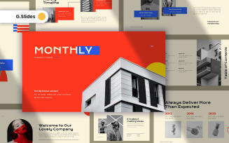 Monthly Creative Google Slides Template