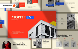 Monthly Creative PowerPoint Template