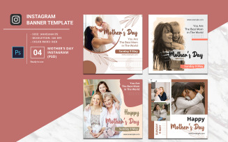 Mother's Day Instagram Post Social Media Template