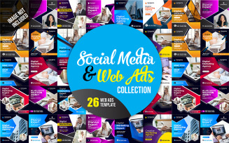 Post and Web ads Collection Social Media