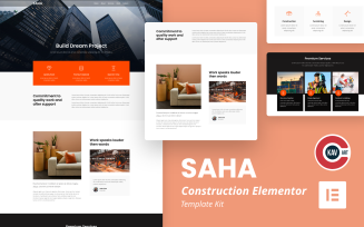 Saha - Construction Elementor Kit