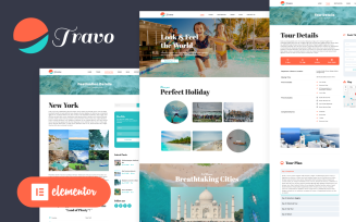 Travo - Travel & Tourism Elementor Wordpress Theme