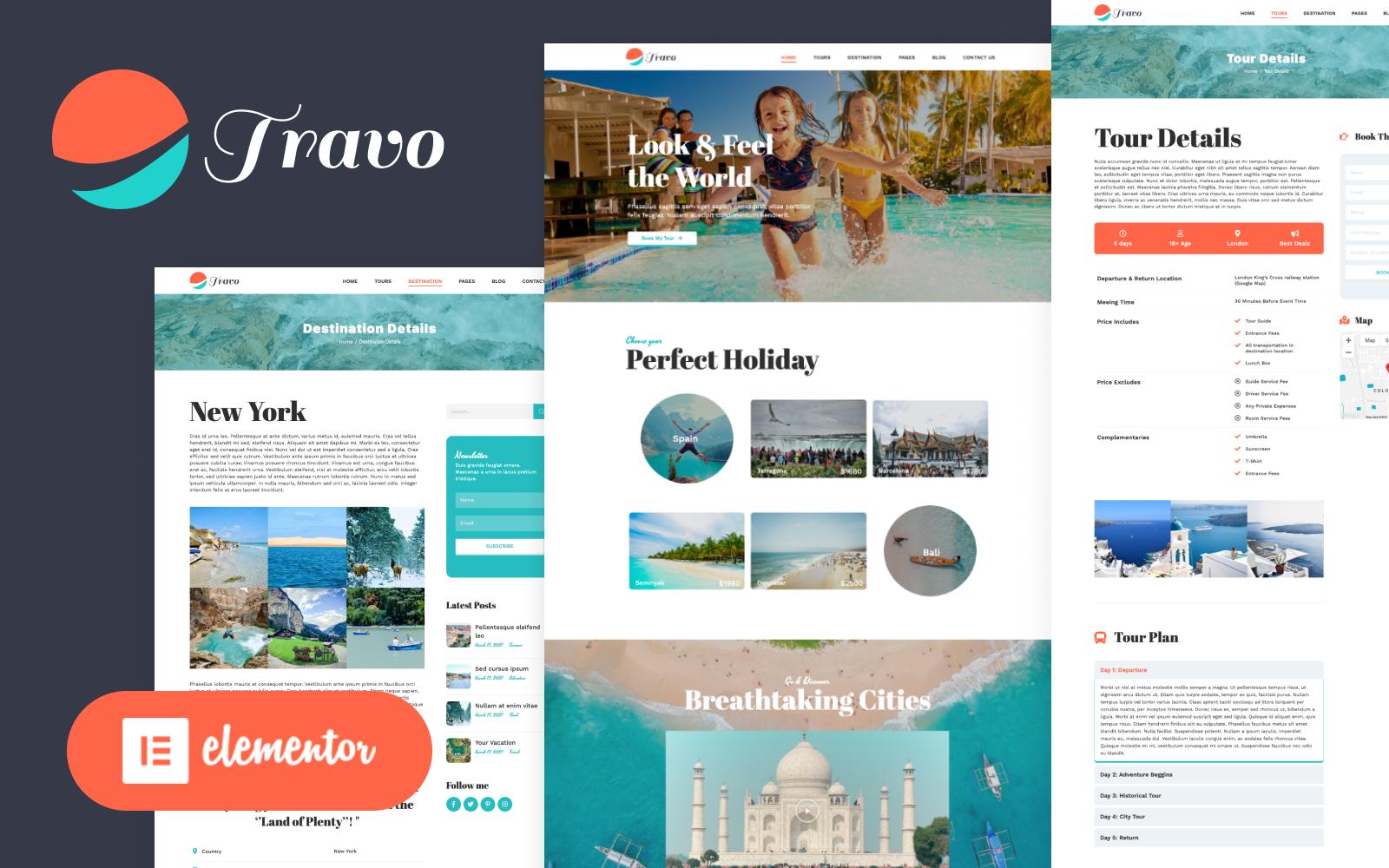 Travo - Utazás és turizmus Elementor Wordpress téma