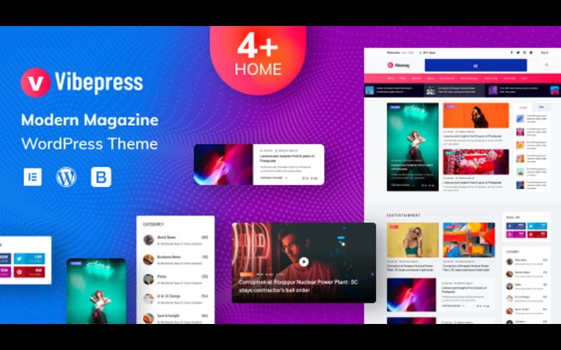VibePress - Modern magazin WordPress téma