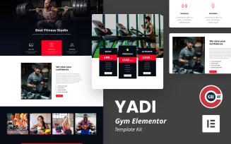 Yadi - Gym Elementor Kit Template