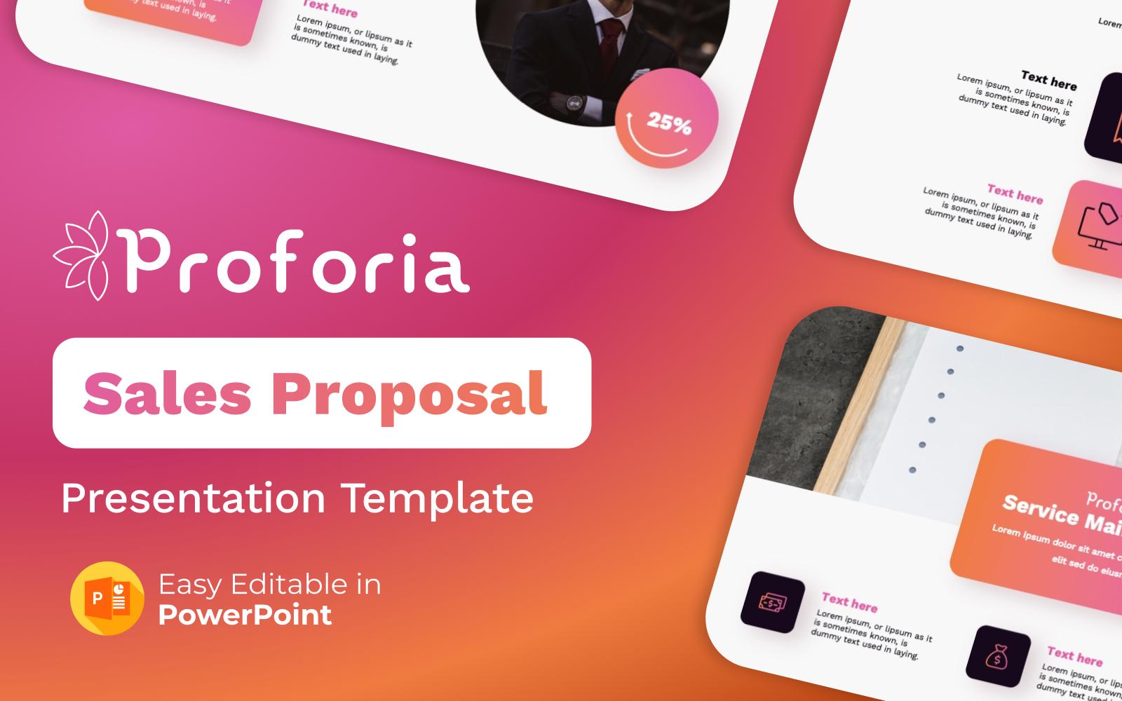 Proforia – Sales Proposal PowerPoint Presentation Template