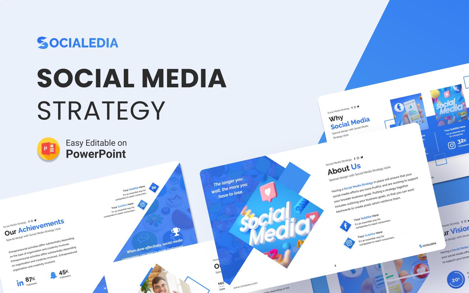 Socialedia – Social Media Strategy Presentation PowerPoint Template