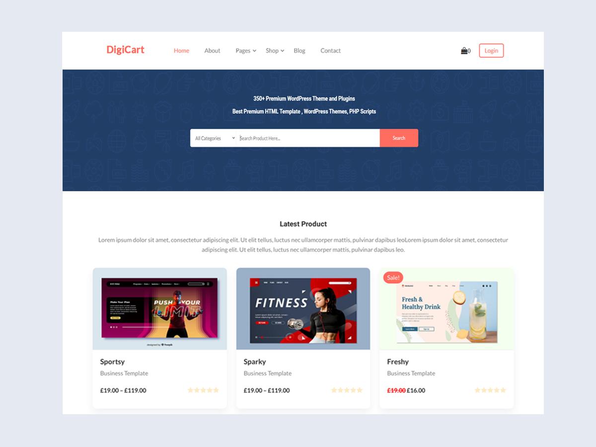 DigiCart - Multivendor Digital Products Selling Marketplace WooCommerce Theme