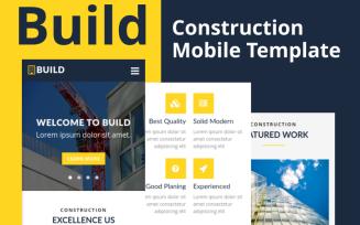 Build - Construction Mobile Website Template