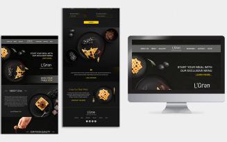L'GRAN Landing Page Design PSD Template