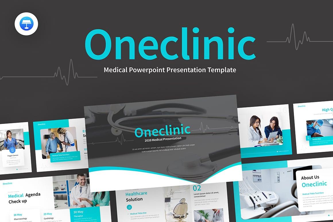 OneClinic Medical Creative Modern Keynote-sjabloon