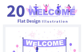 20 Welcome Vector Illustration