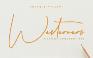 Westerners Handwriting Script Font