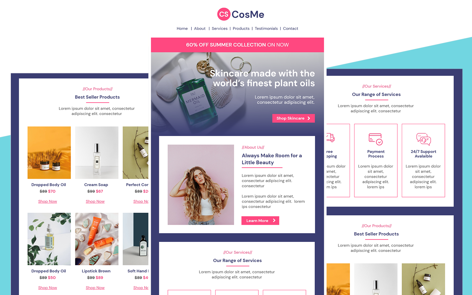 CosMe – Multipurpose Cosmetic & Beauty Responsive Email Newsletter Template