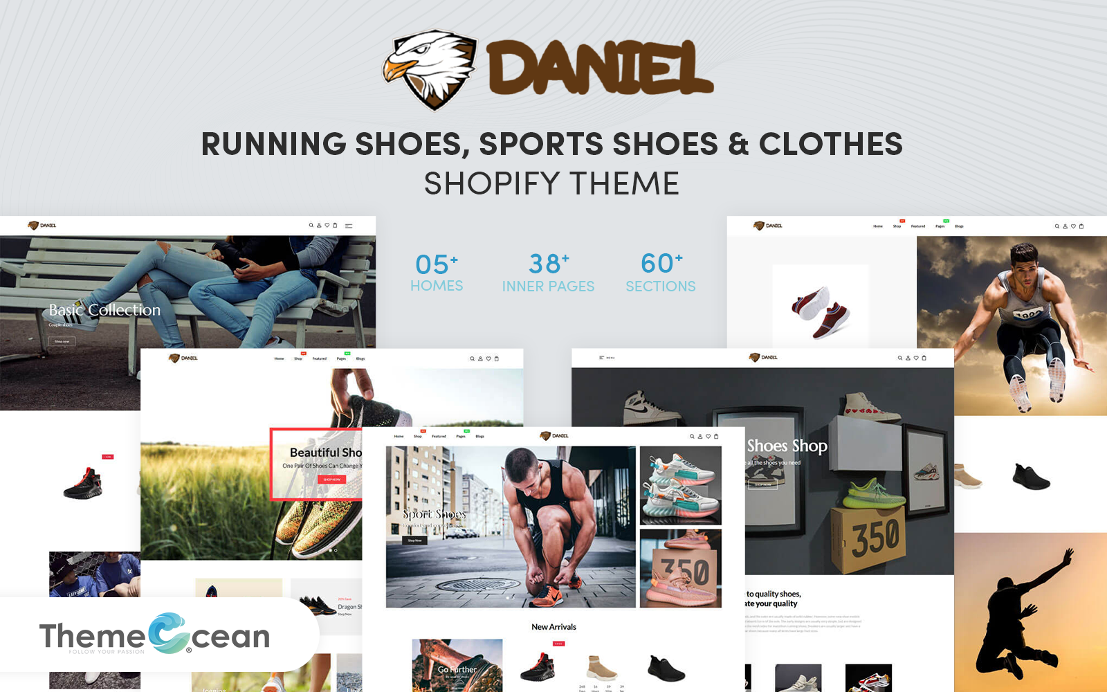 Daniel - Running Shoes, Sports Shoes & Clothes Shopify Theme