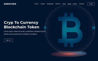 Enricher - Bitcoin & Cryptocurrency Landing Page Theme