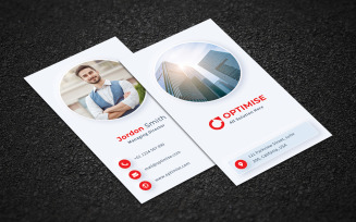 Free Optimise Corporate Business Card