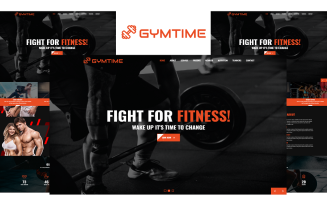 Gymtime - Gym Landing Page HTML5 Landing Page Template