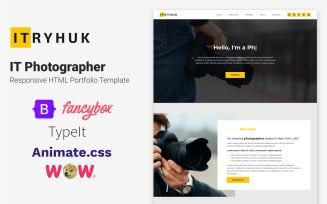 IT Photographer - Responsive HTML Portfolio Template