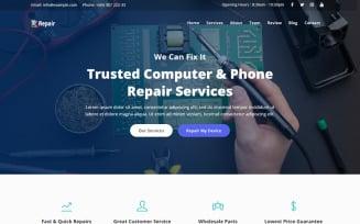 Repair - Computer & Phone Repair Landing Page Template