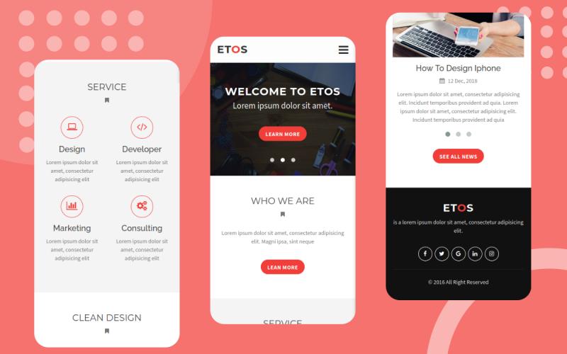 Etos - HTML Mobile Website Template