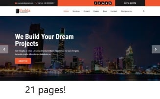 Builda - HTML5 Construction & Business Template