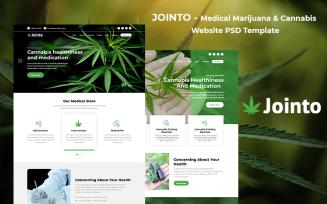 Jointo - Medical Marijuana Cannabis Website PSD Template