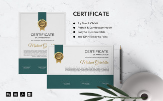 Michael Geraldho - Certificate Template