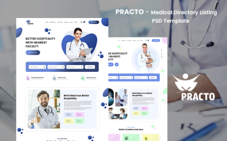 Practo - Medical Directory Listing PSD Template