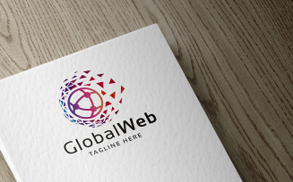 Professional Global Web Logo template