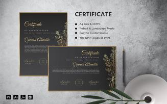 Quenna Almalik - Certificate Template