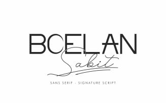 Boelan Sabit Two Different Styles Font