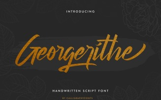Georgerithe Brush Calligraphy Font