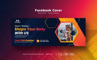 Gym Or Fitness Social Facebook Cover Template Social Media