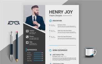 Henry Joy Professional Resume Template