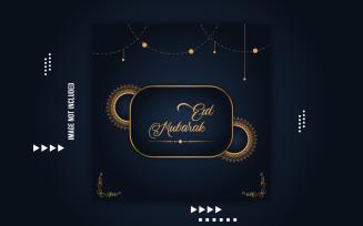 Ramadan Eid Mubarak Social Media Template