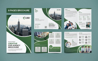 Business 8 Pages Brochure Template