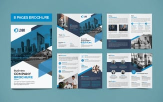 Company 8 Pages Brochure Template