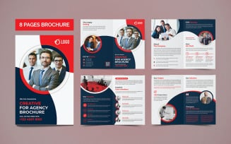 Corporate 8 Pages Brochure Template.