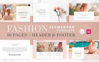 Fashion Instincts - Elementor Template Kit - WooCommerce Compatible - 10 Pages + Header & Footer