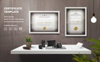 Jonathan Anderson - Certificate Template