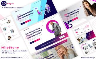 Milestone - Multi Plan Business Website template