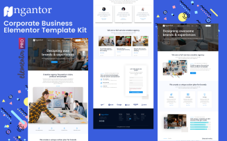 Ngantor - Elementor Pro Corporate Business Template Kits