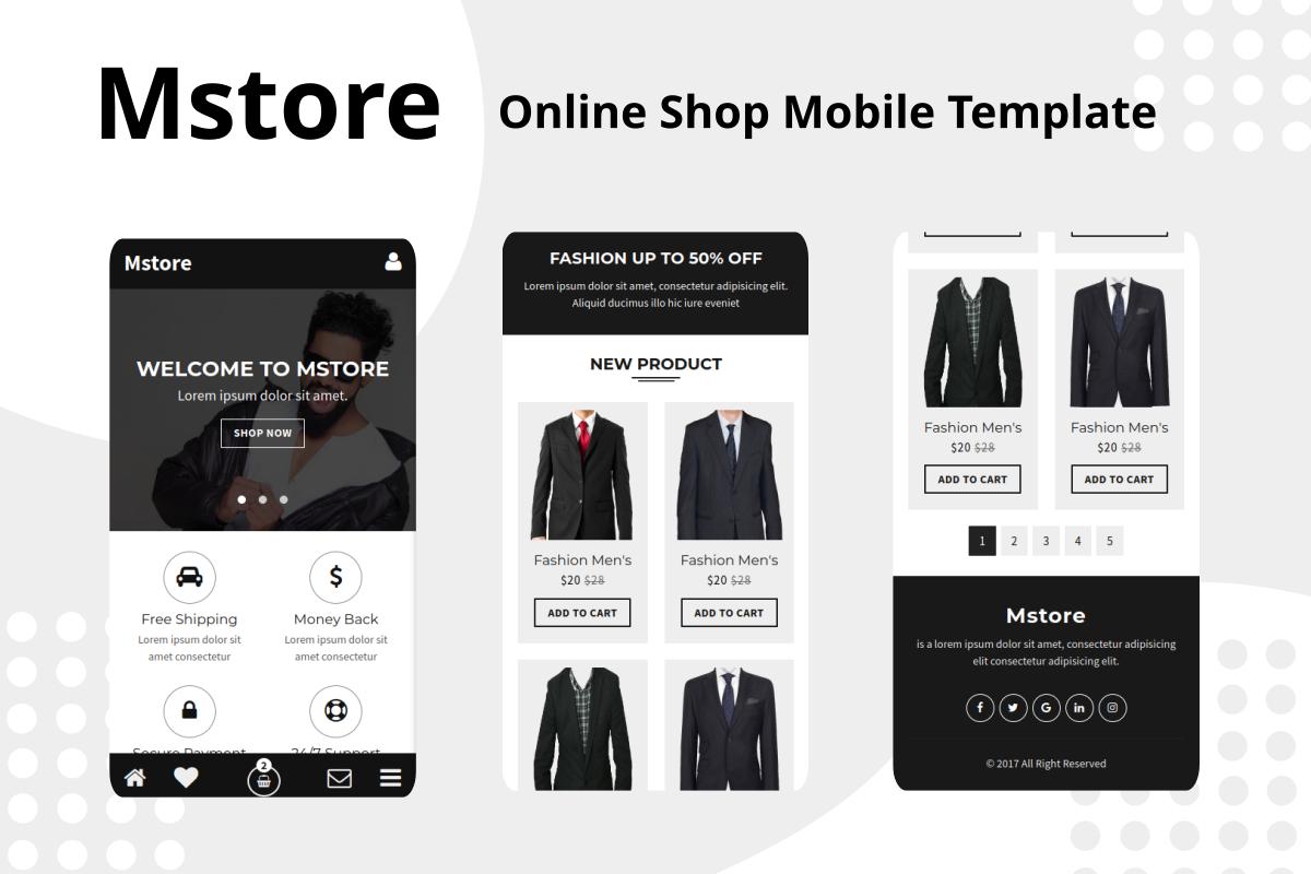 Mstore - Online Shop Mobile Website Template
