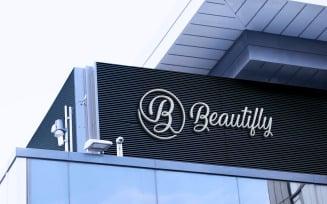 Building Wall Logo Mockup Design