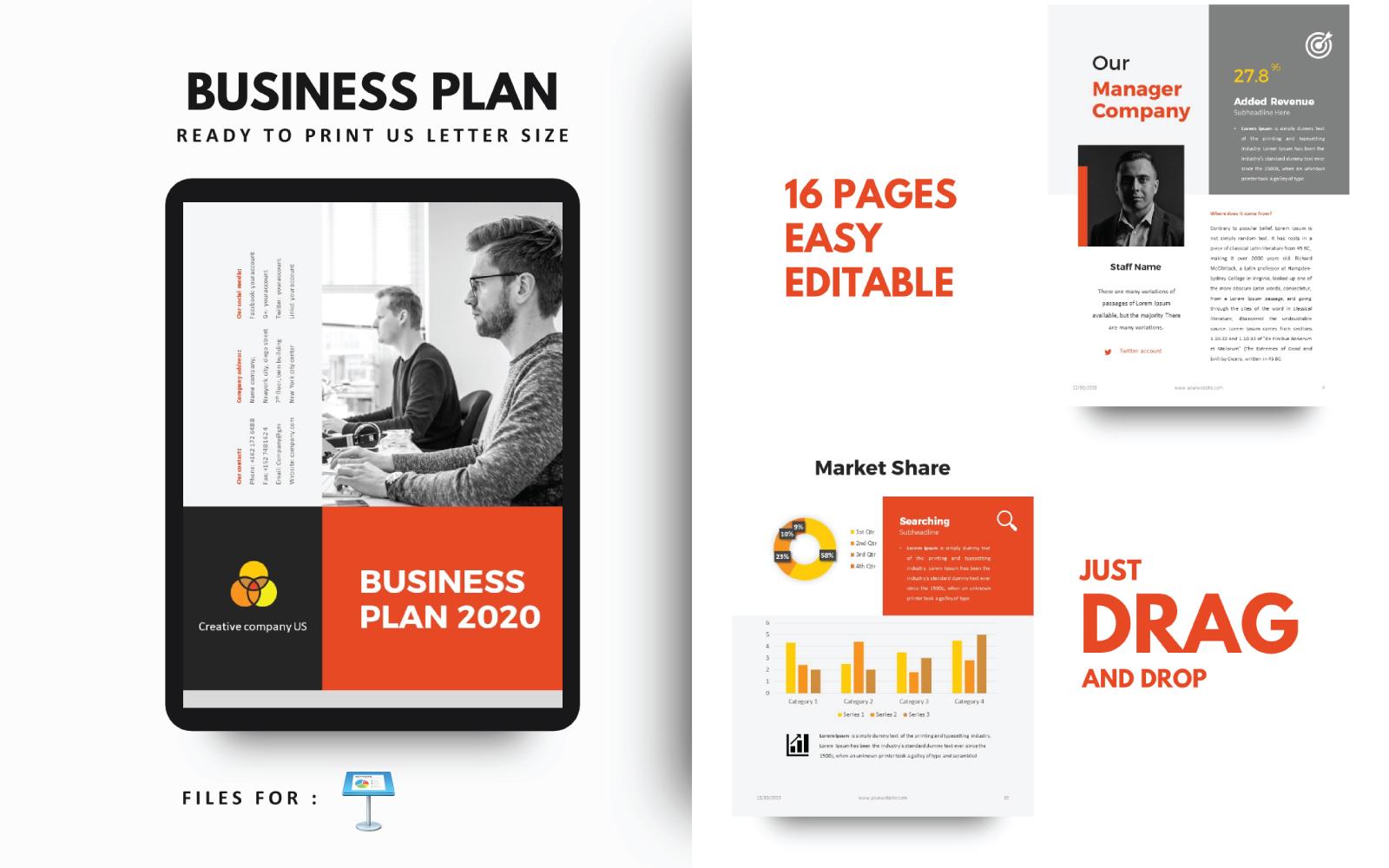 Businessplan Bedrijf Keynote-sjabloonpresentatie