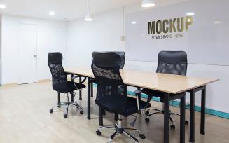 Logo Mockup Office Wall Meeting Room Product Mockup