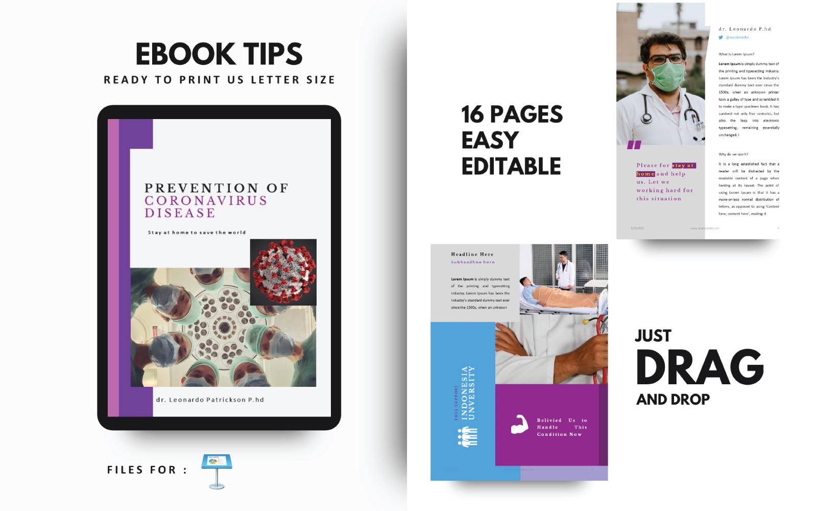Medische tips voor preventie Keynote-sjabloonpresentatie