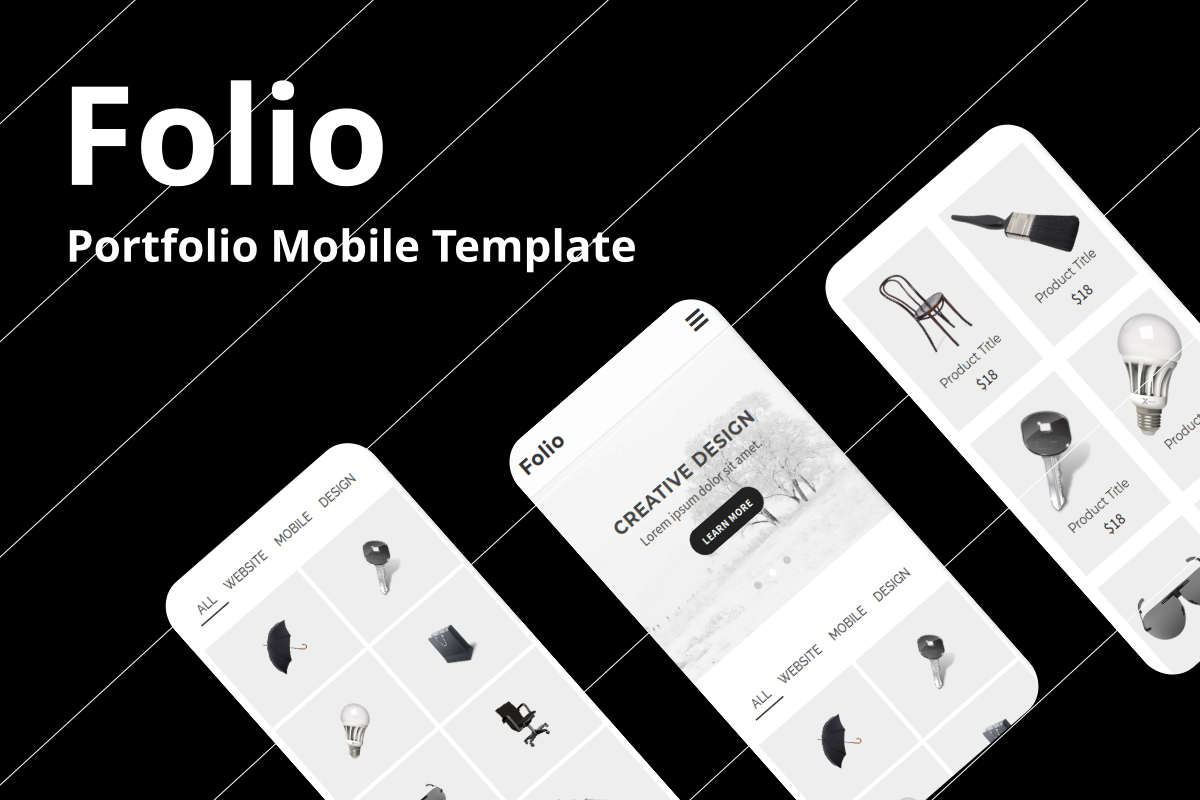 Folio - Portfolio Mobile Website Template